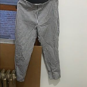 Old navy black and white plaid pants size 12